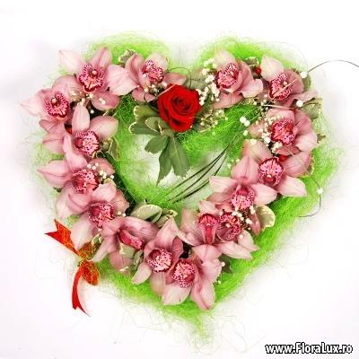 inima flori orhidee