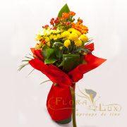 Buchet cu crizanteme si gerbera