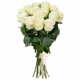 buchet 15 trandafiri albi