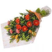 buchet trandafiri si crini asiatici