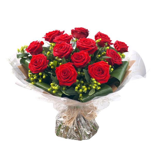 buchet 13 trandafiri rosii