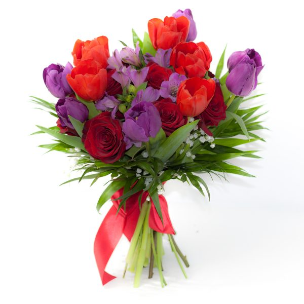 Buchet de flori cu lalele