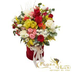 flori in cutie lux