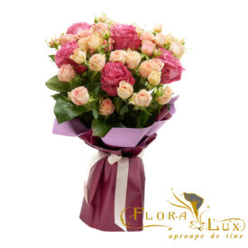 Buchet cu minirose si trandafiri